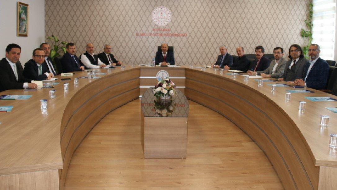 İl Millî Eğitim Müdürümüz  Hasan BAŞYİĞİT  Başkanlığında Toplantı Yapıldı
